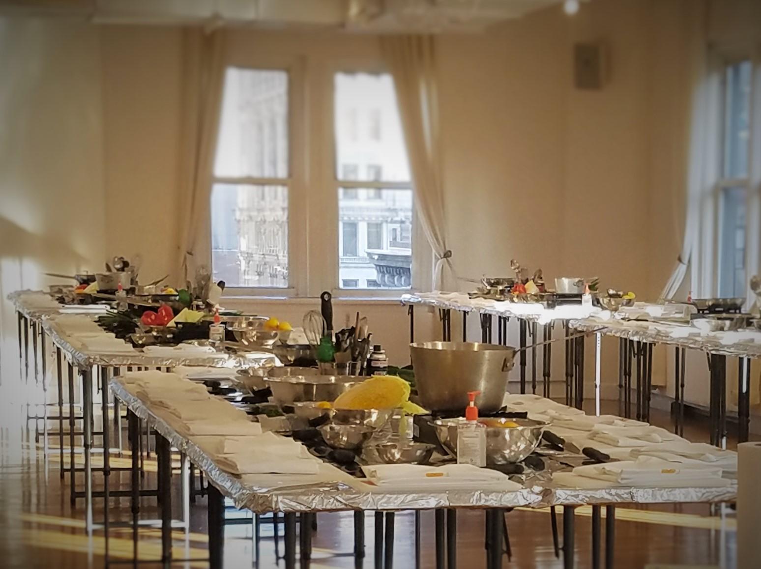 Table prep pre NYSCC event. Photo credit: Cherie Buziak