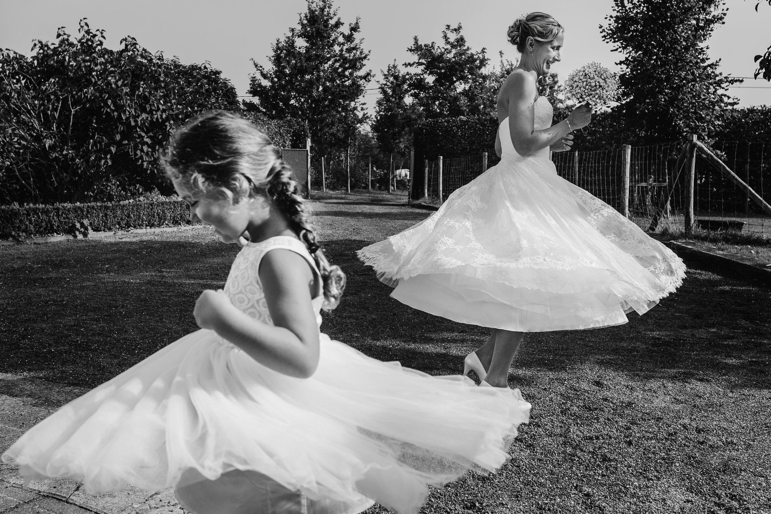 girls twirling