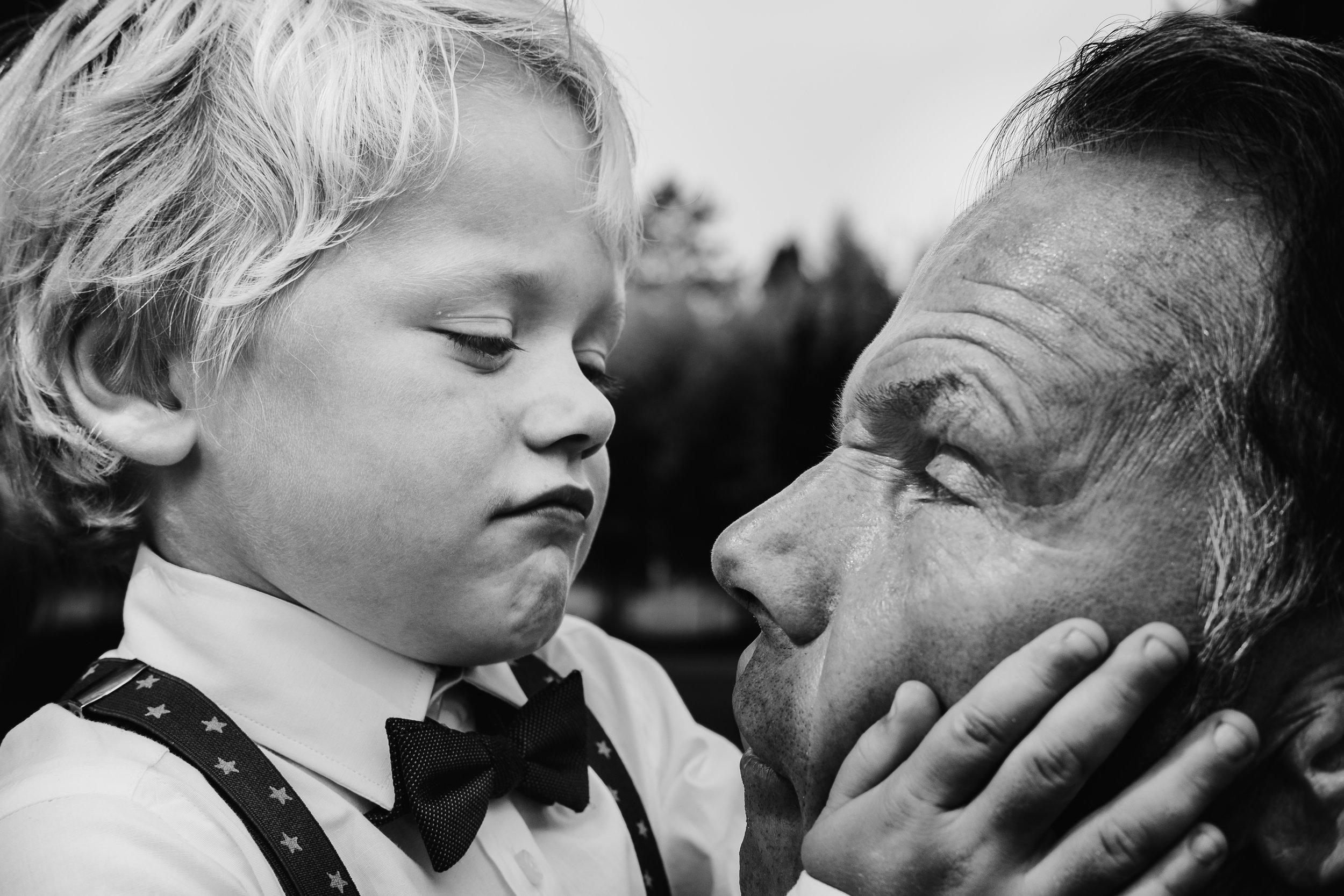 boy and grandpa