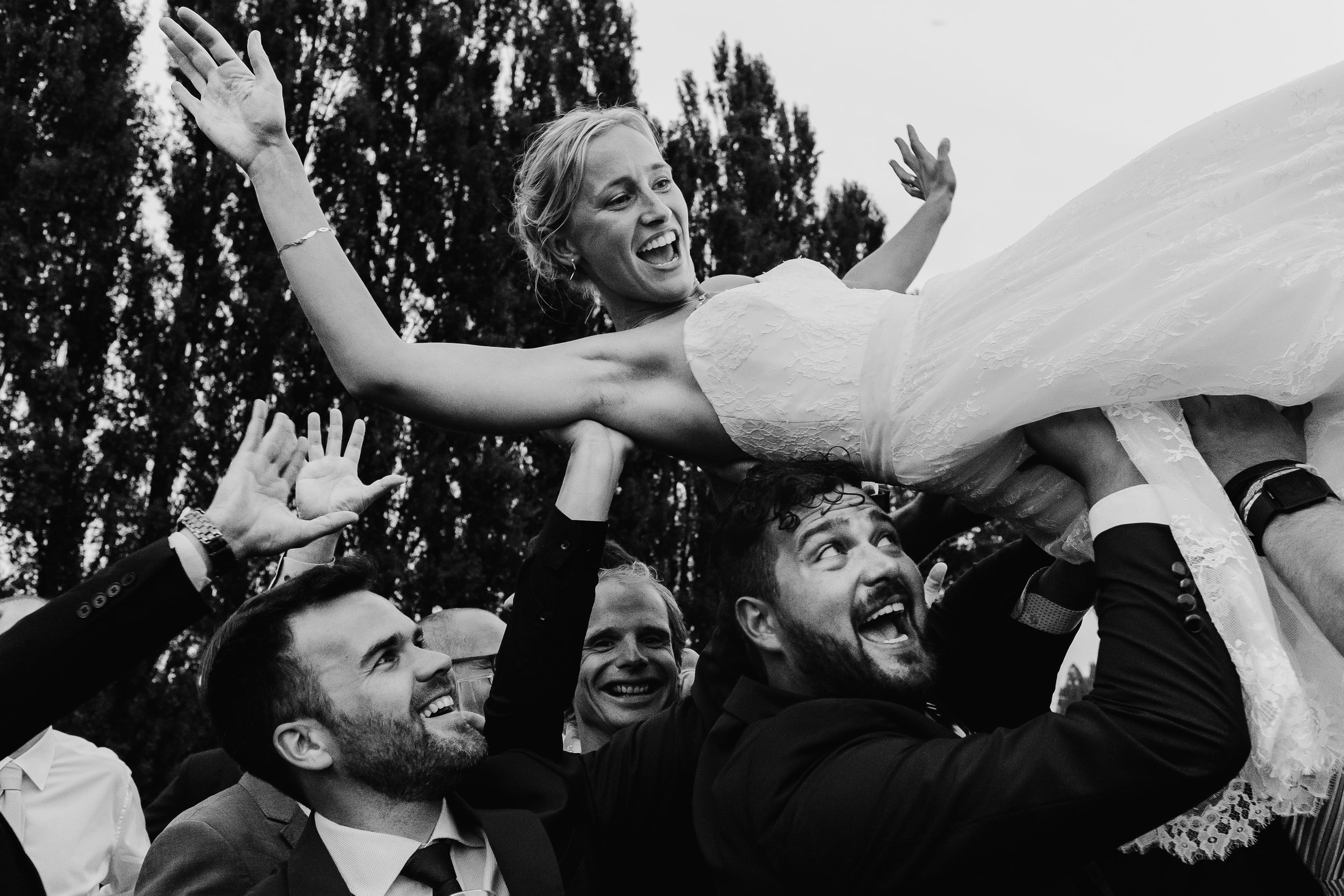 bride being carried