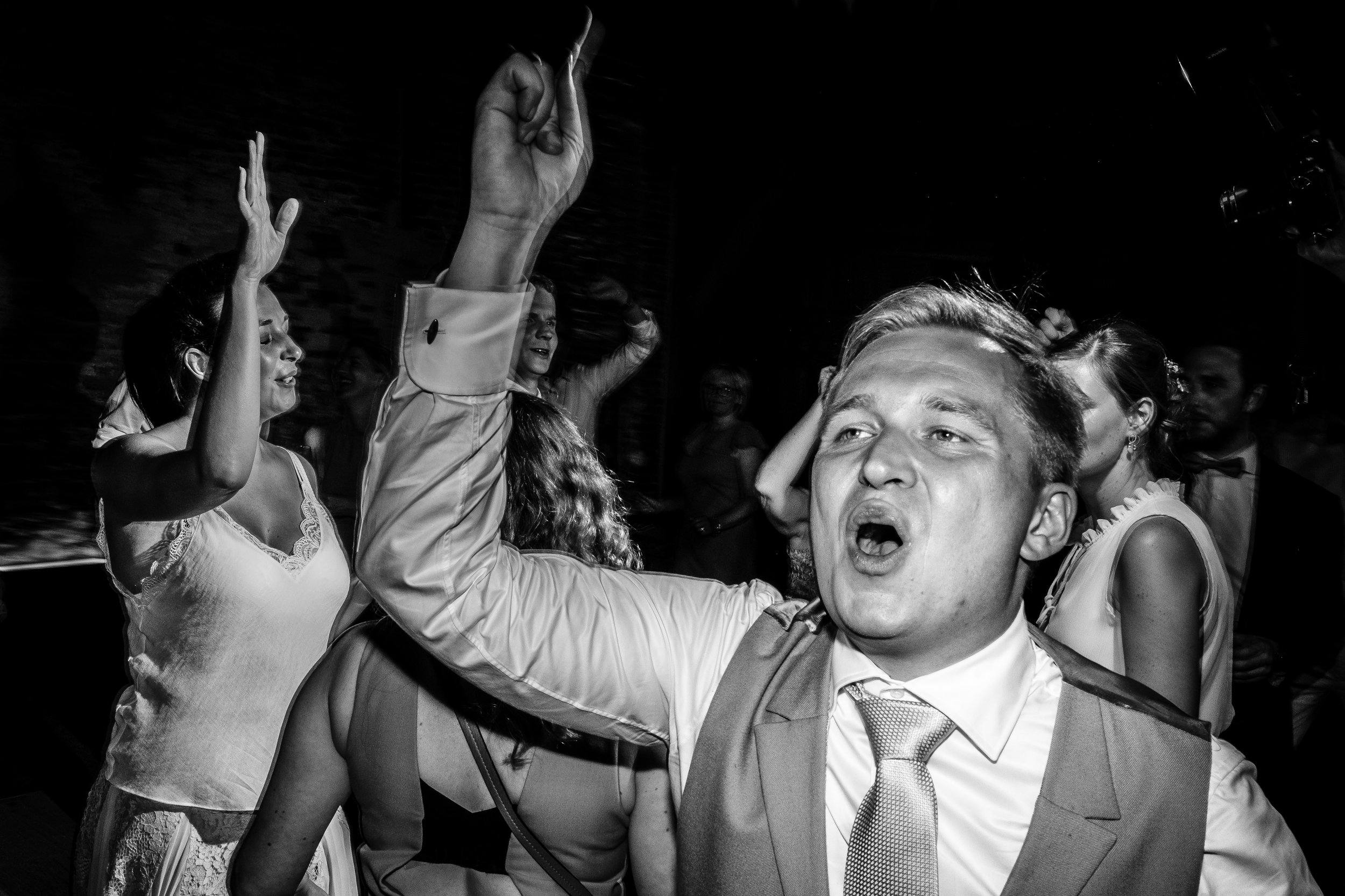 groom partying
