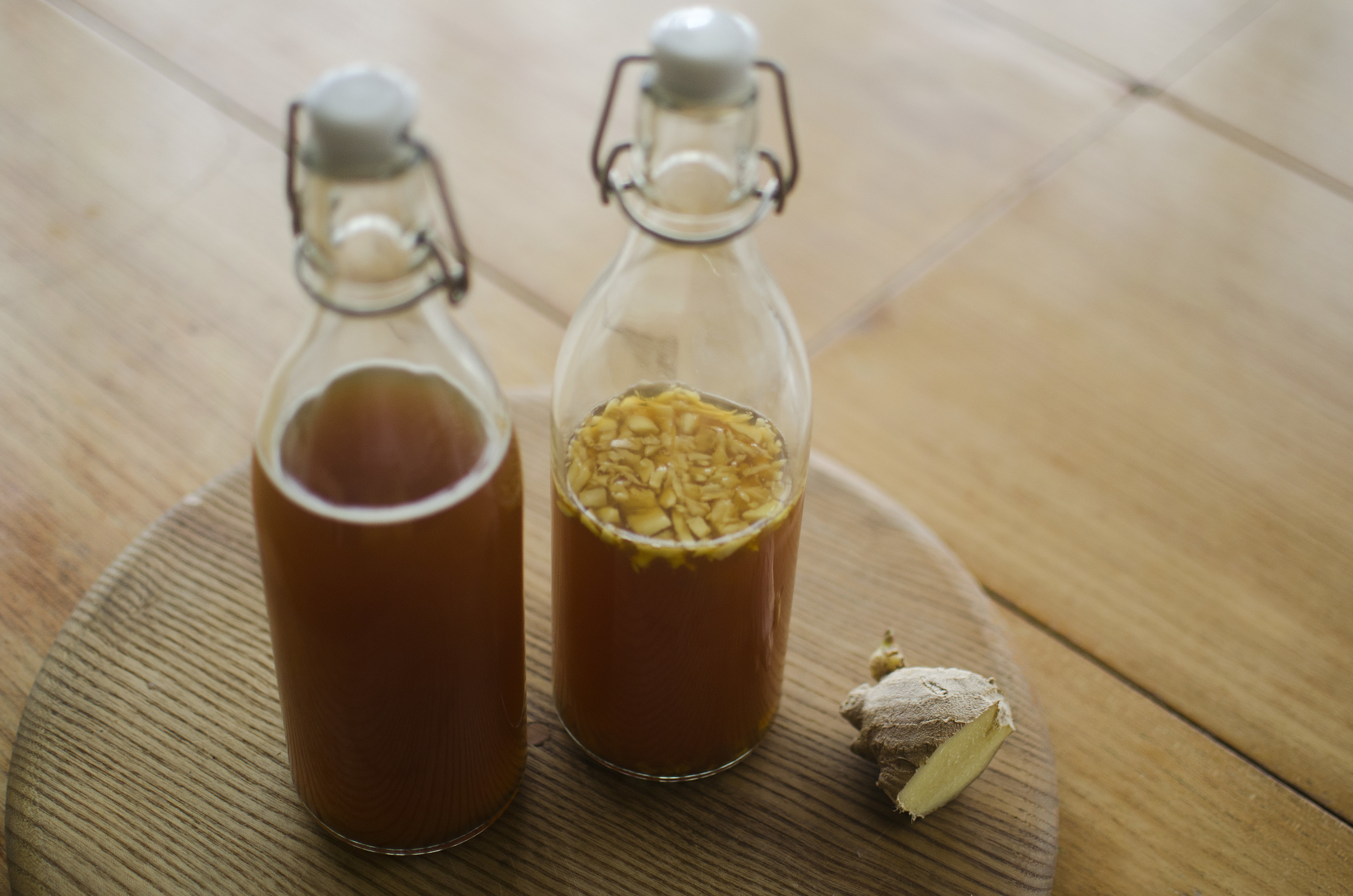 so we go - ginger kombucha