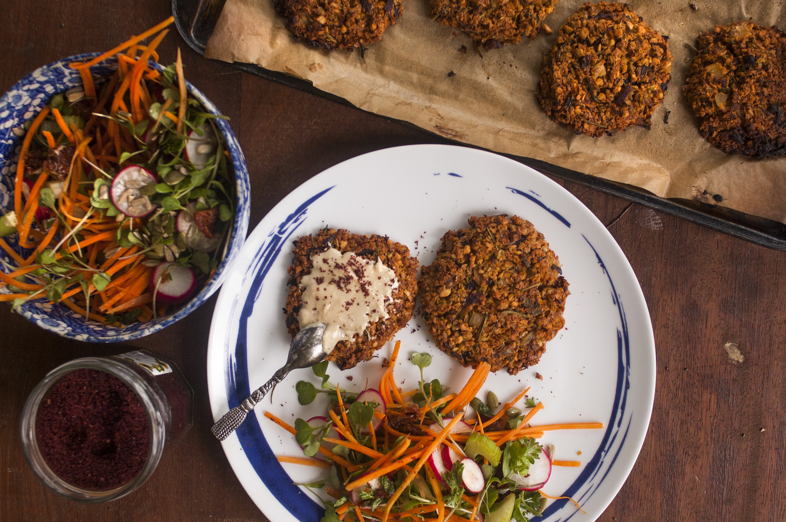 Sprouted Falafel Burgers (Vegan)