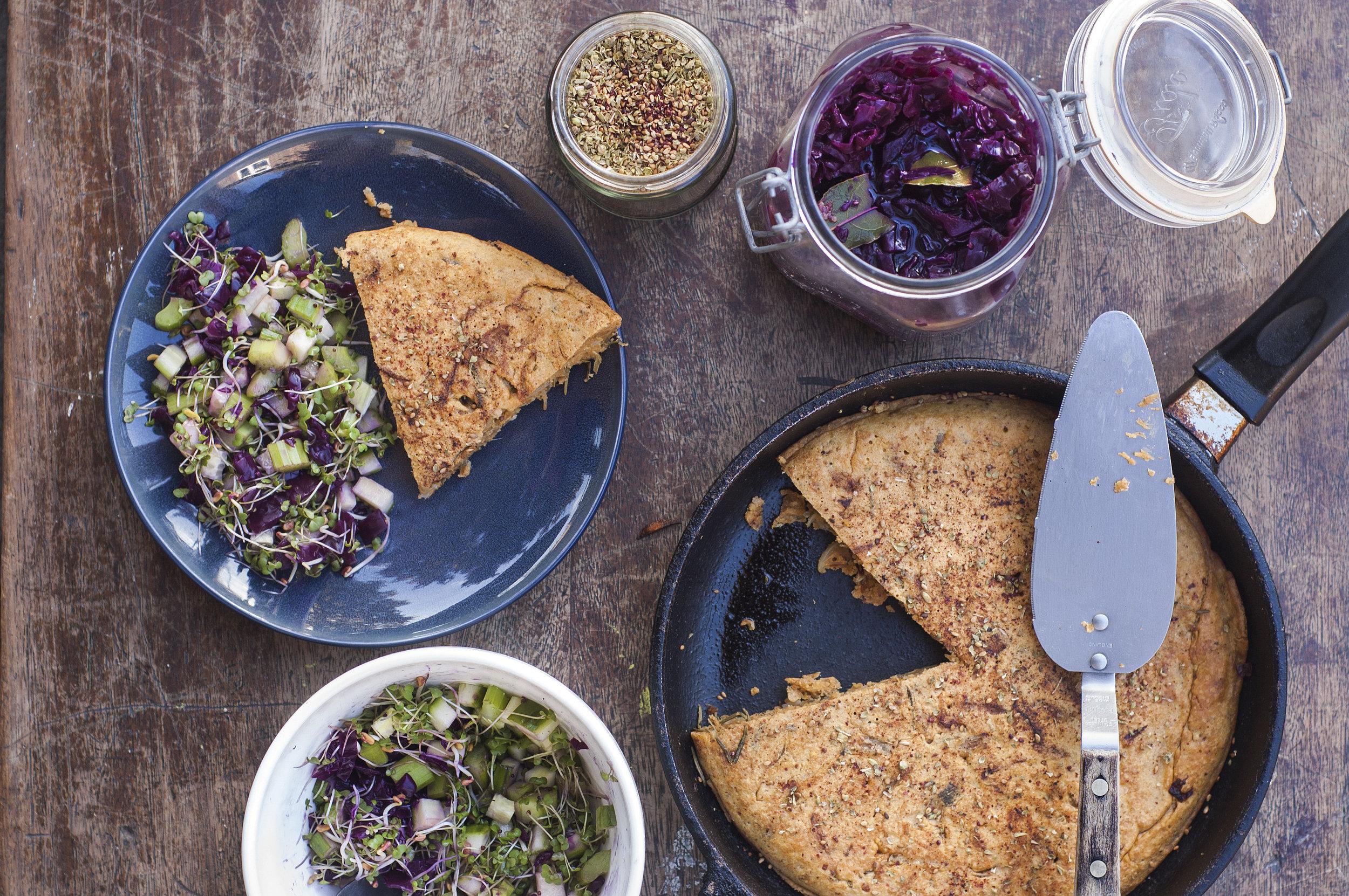 Chickpea Frittata (Vegan omelette)
