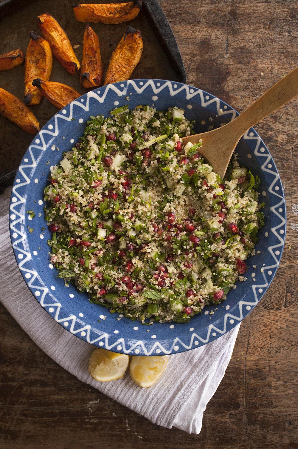 Quinoa Tabbouleh Salad Vegan