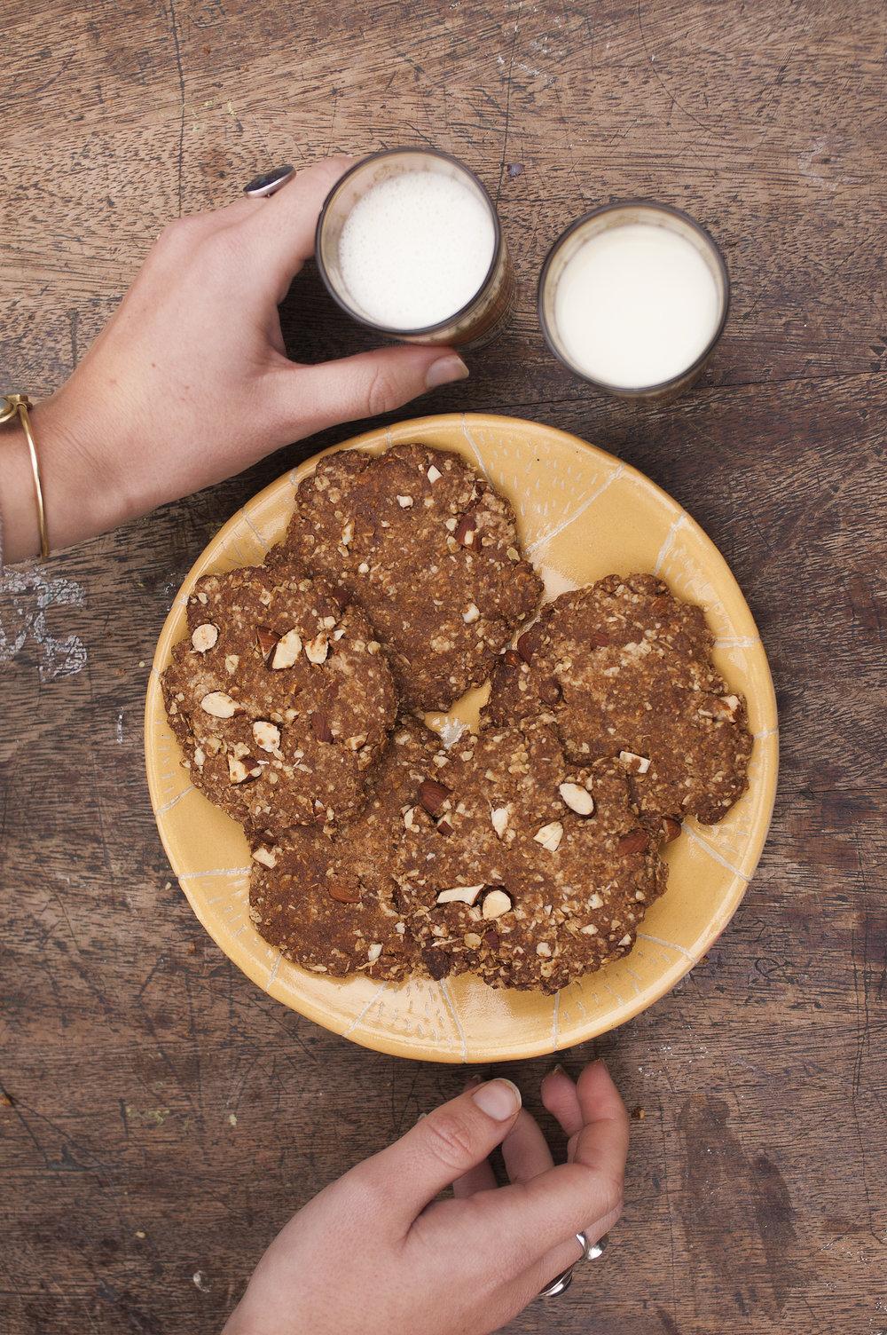 Gingerbread Oat biscuits vegan