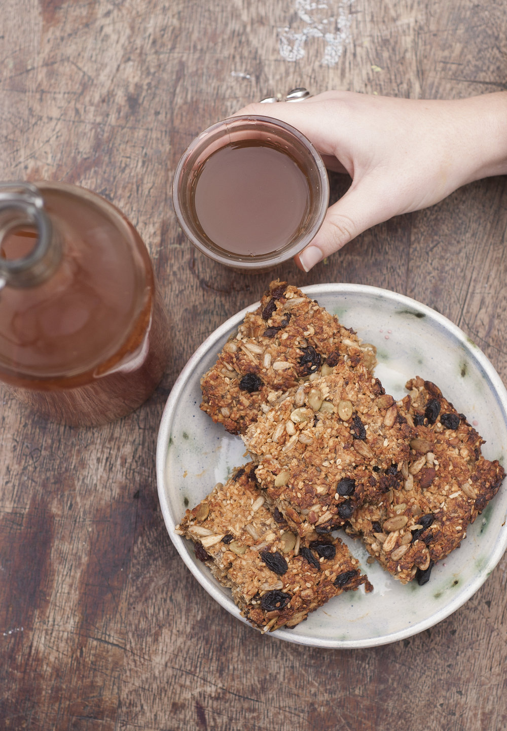 Quick and Easy flapjacks vegan