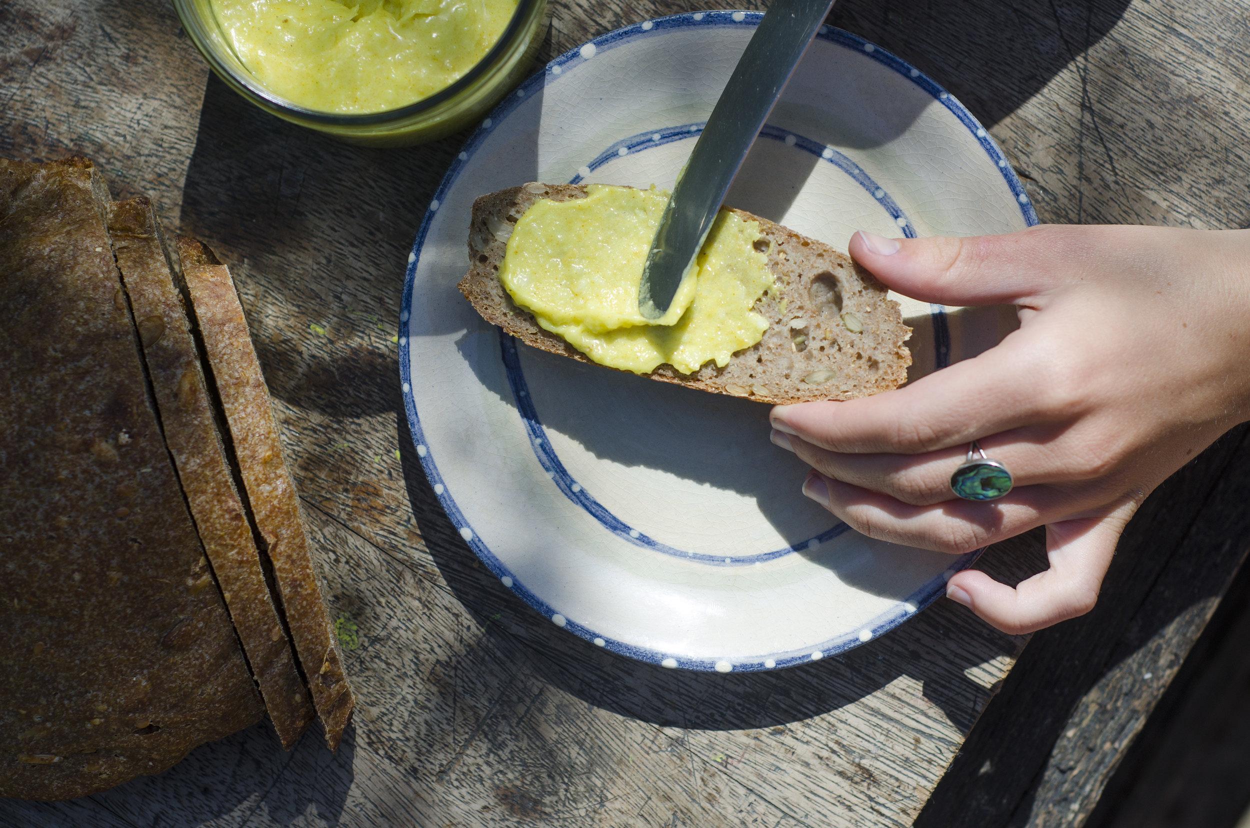 vegan turmeric butter