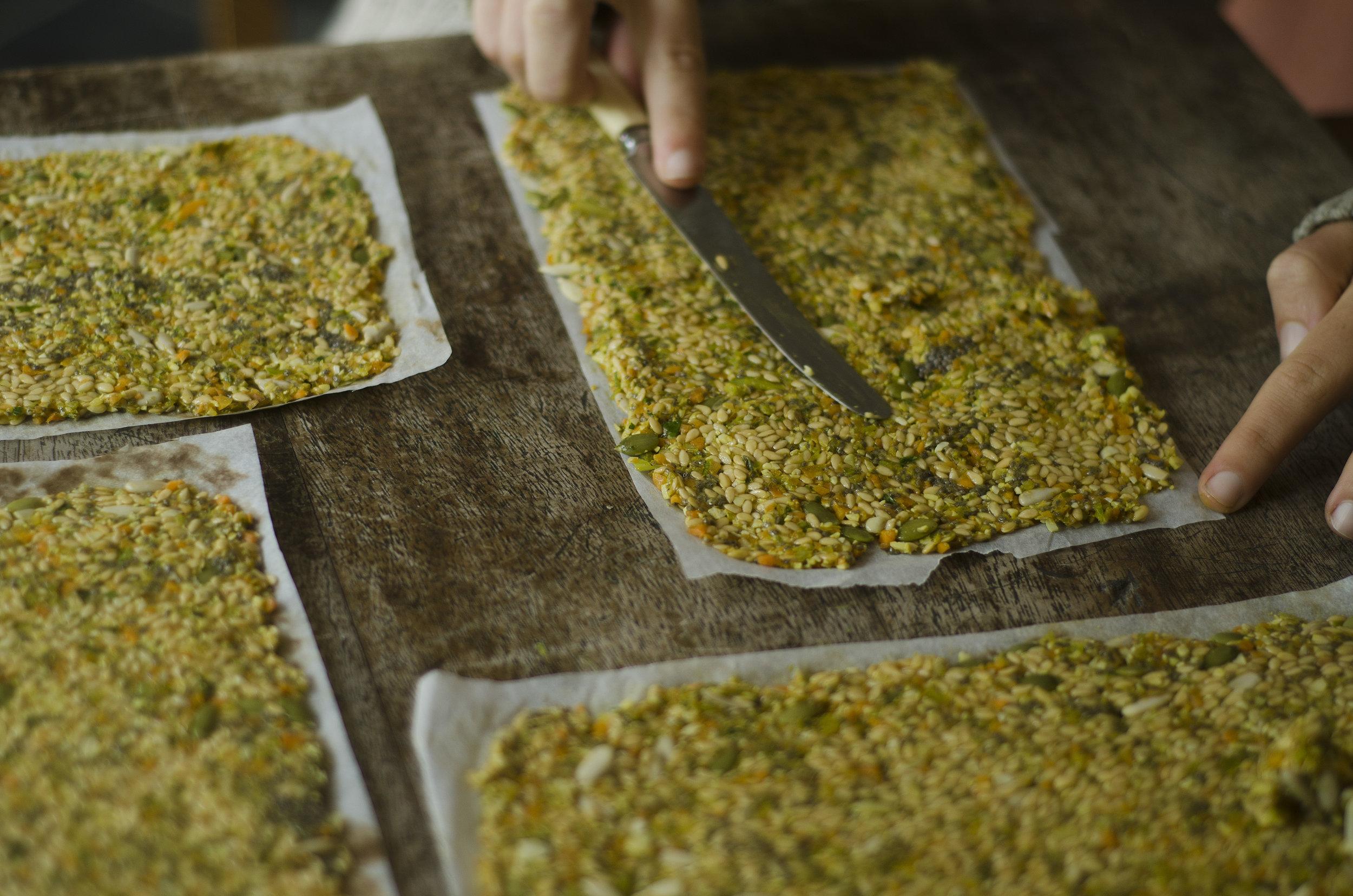 Turmeric Flaxseed Raw Crackers
