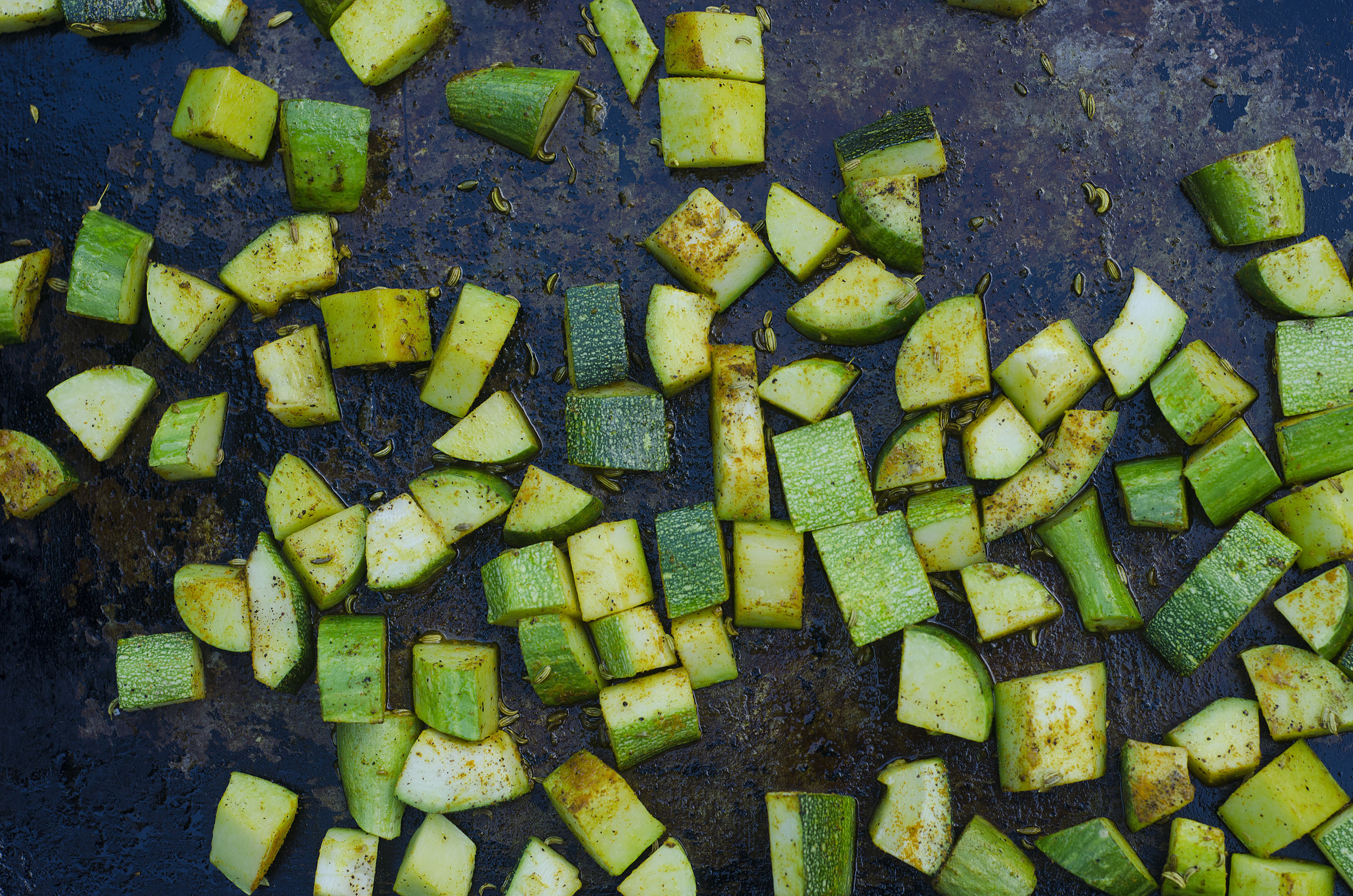 Roasted Courgette Turmeric Fennel