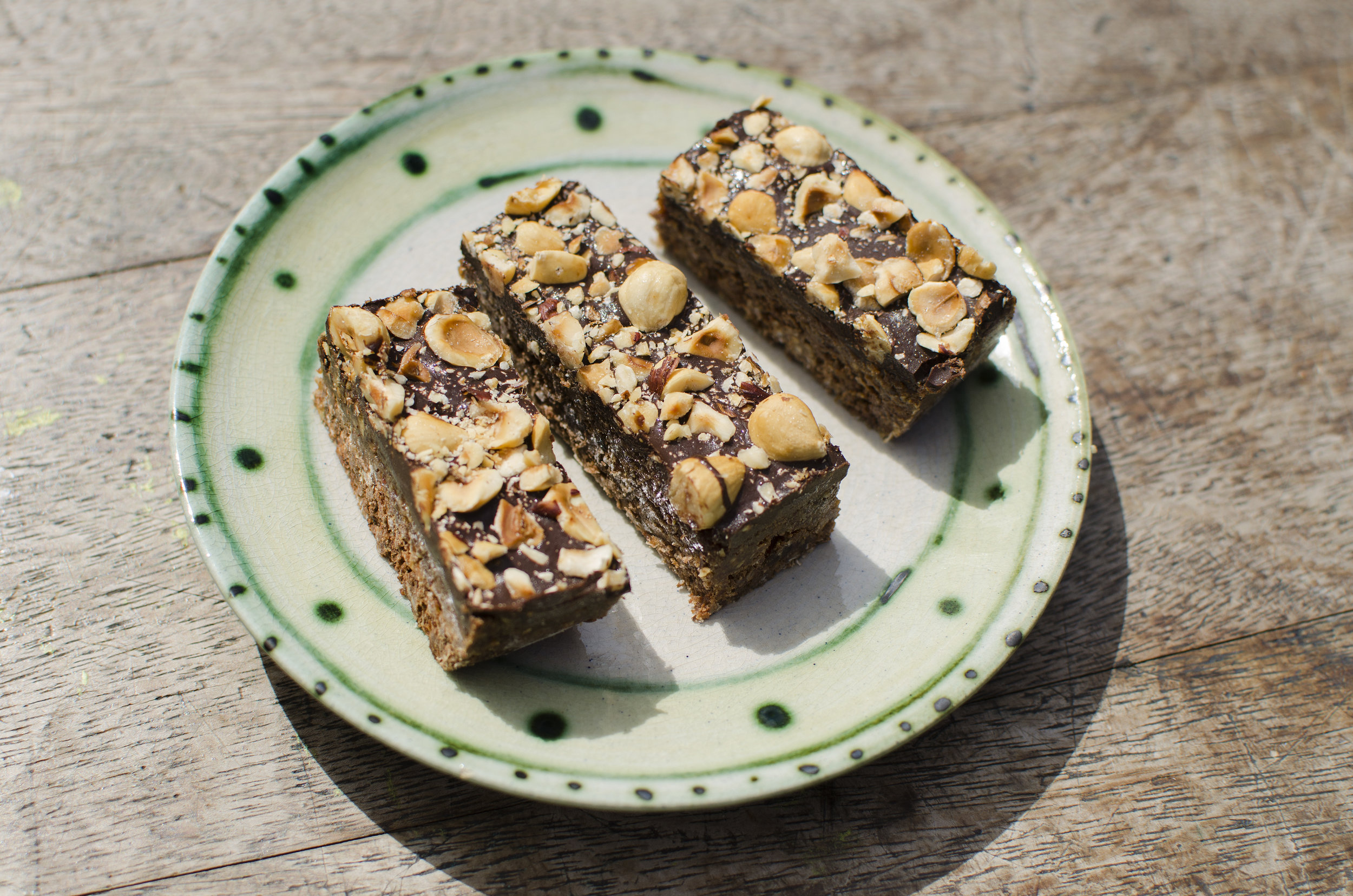 Vegan Ferrero Rocher Bars with Hazelnut Butter