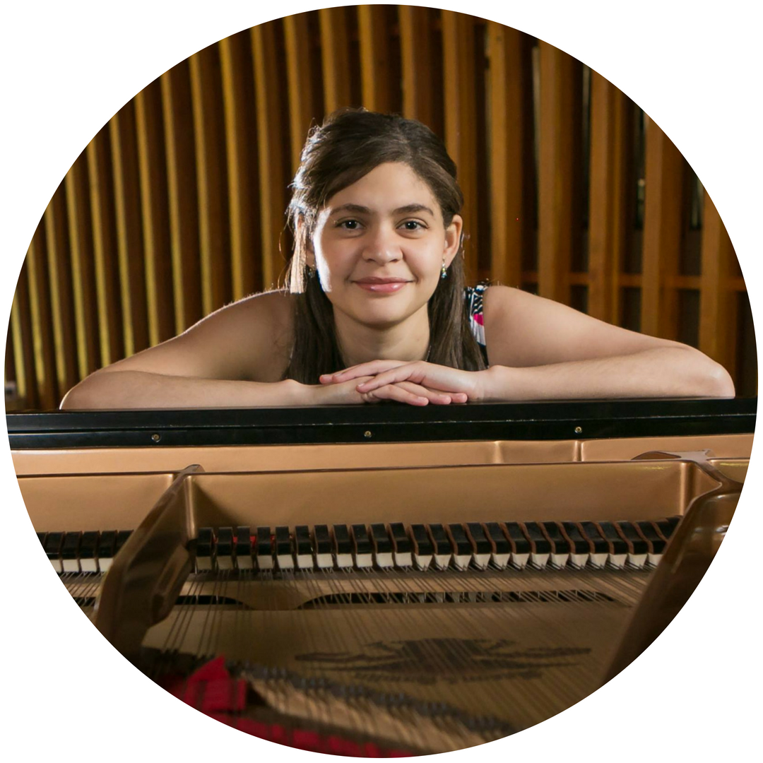 Priscilla Dantas, Piano Faculty - Priscilla Dantasis a Brazilian concert pianist and music teacher. A graduate of the University of Oregon, USA, she spent her early years taking piano lessons at CEMO School of Music in Brazil. At 14 years old, Priscilla debuted as a soloist with Recife's Symphonic Orchestra performing Mozart's Piano Concerto No. 13 in C Major. A year later, she gave her first solo tour in the United States and continued to give recitals in the US for the next four years.Priscilla also has a number of recordings from her live performances and studio recording from CPM gravaçõesby CPM, Recife Conservatory of Music, including Mozart's A minor Piano Sonata No. 8 and Scriabin's Prelude Opus. 13, No. 2. Throughout her career, Priscilla has participated in several music festivals in Brazil and USA such as Liszt/Mendelssohn, Schumann/Chopin and Oregon Coast Music Festival, where she received a standing ovation for her performance of Chopin's Ballade No. 1.Priscilla has performed in numerous masterclasses for pianists such as Boris Berman and Luiz de Moura Castro. She has also been covered by numerous news channels in Brazil and USA, including