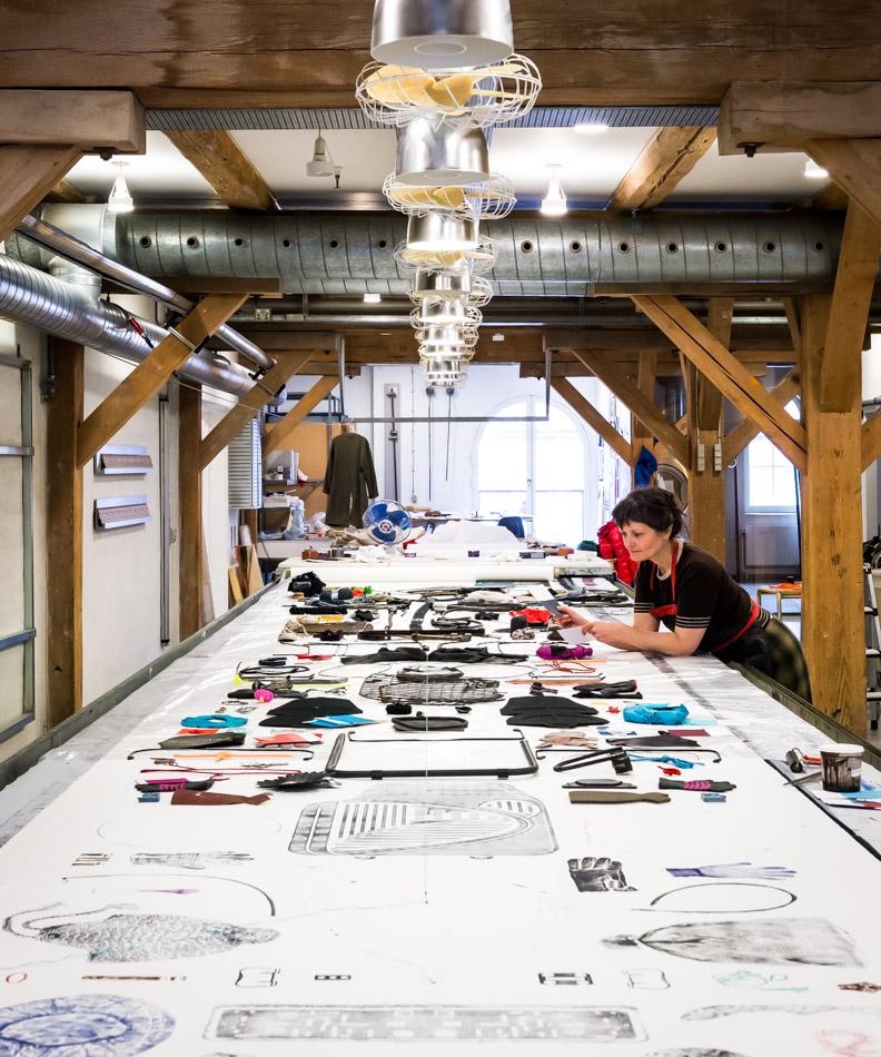 Anne Fabricius Møller   B. 1959, textile printer and textile designer