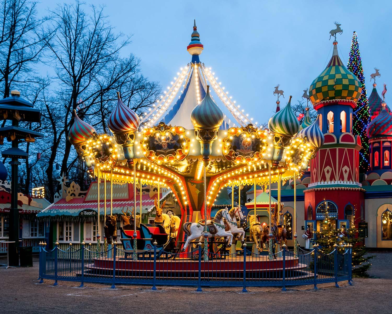 Carousel at Tivoli Gardens, Denmark