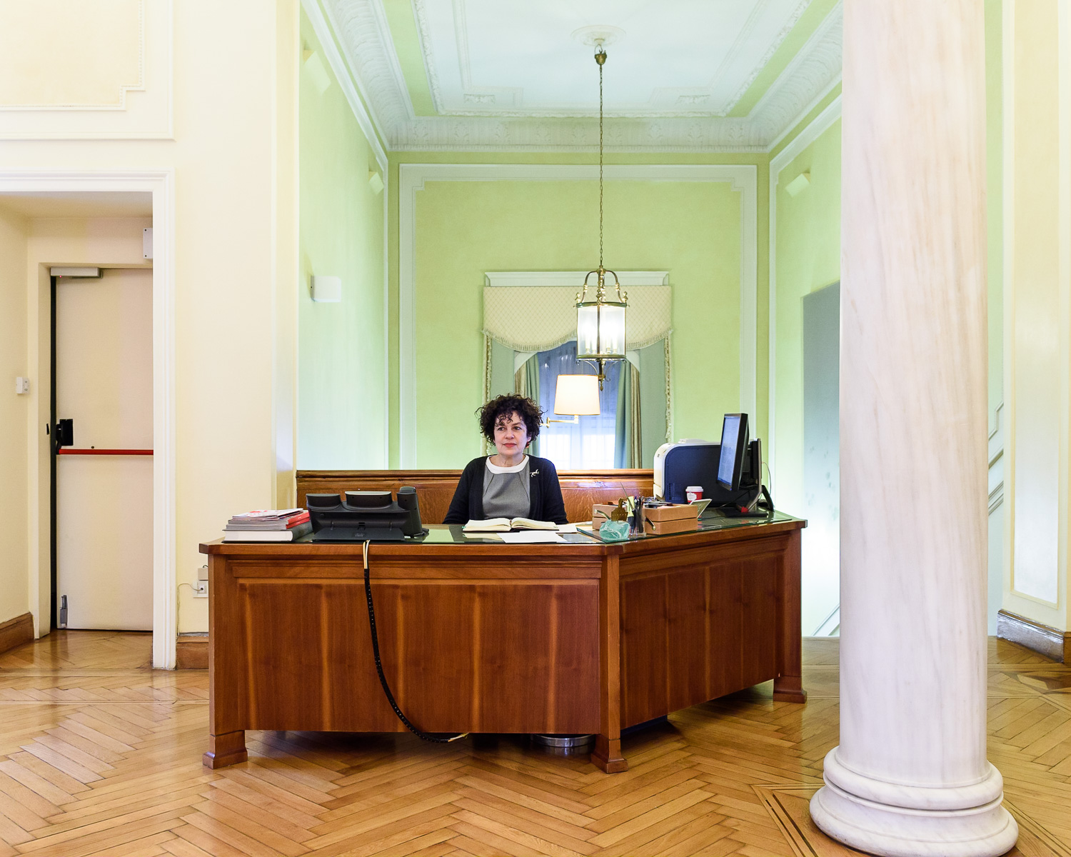 Receptionist at the Onassis Foundation