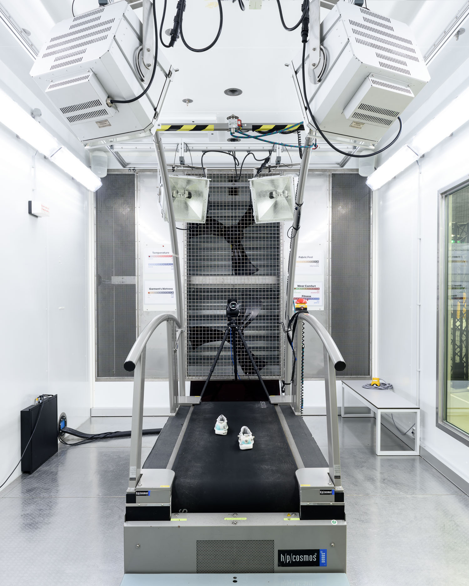 The climate chamber in the Future Sports Science Lab
