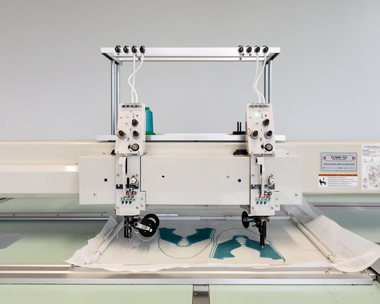 Stitching machine testing new techniques in the Development Kitchen