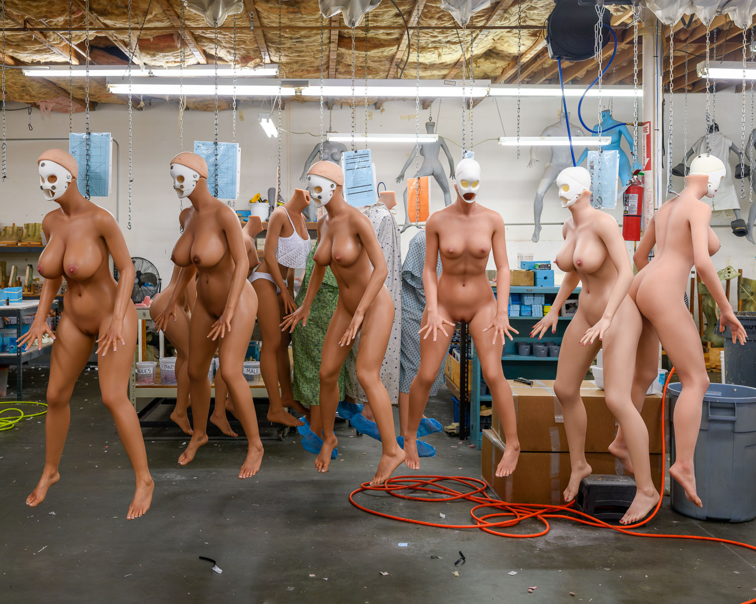 The RealDoll workshop in San Marcos, California, where 20-30 fully customisable sex dolls are made by hand every month
