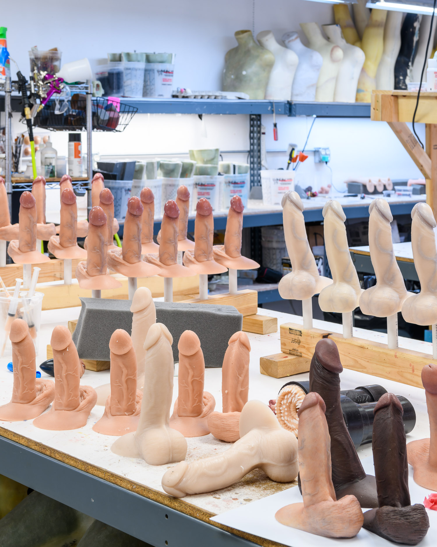 Ultra realistic penises being produced at the RealCock workshop