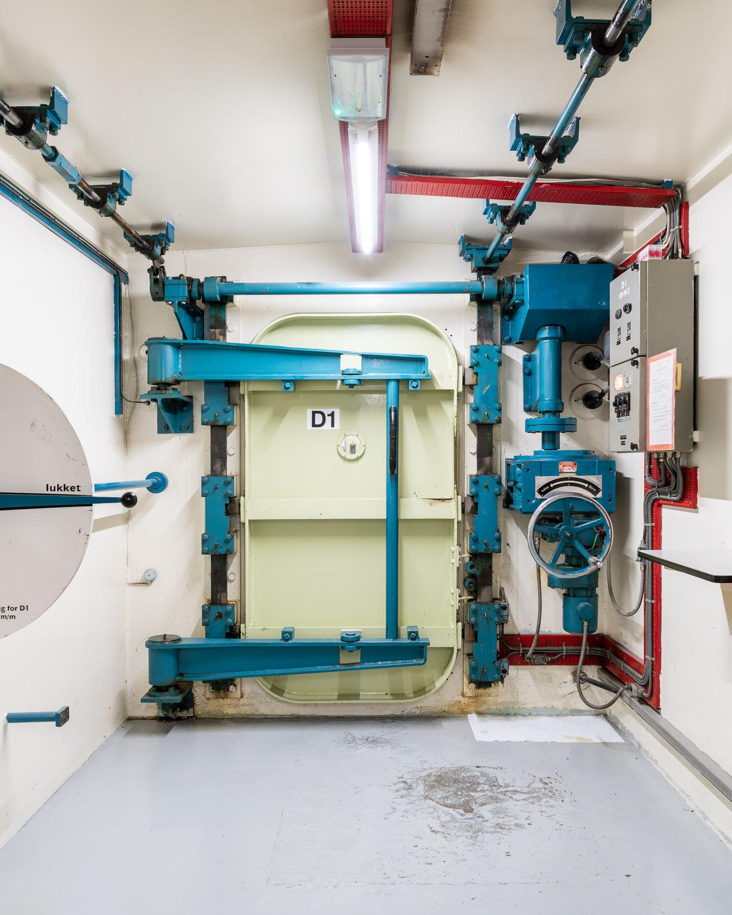 Door to the Dansk Reaktor 3 nuclear reactor, built in 1960