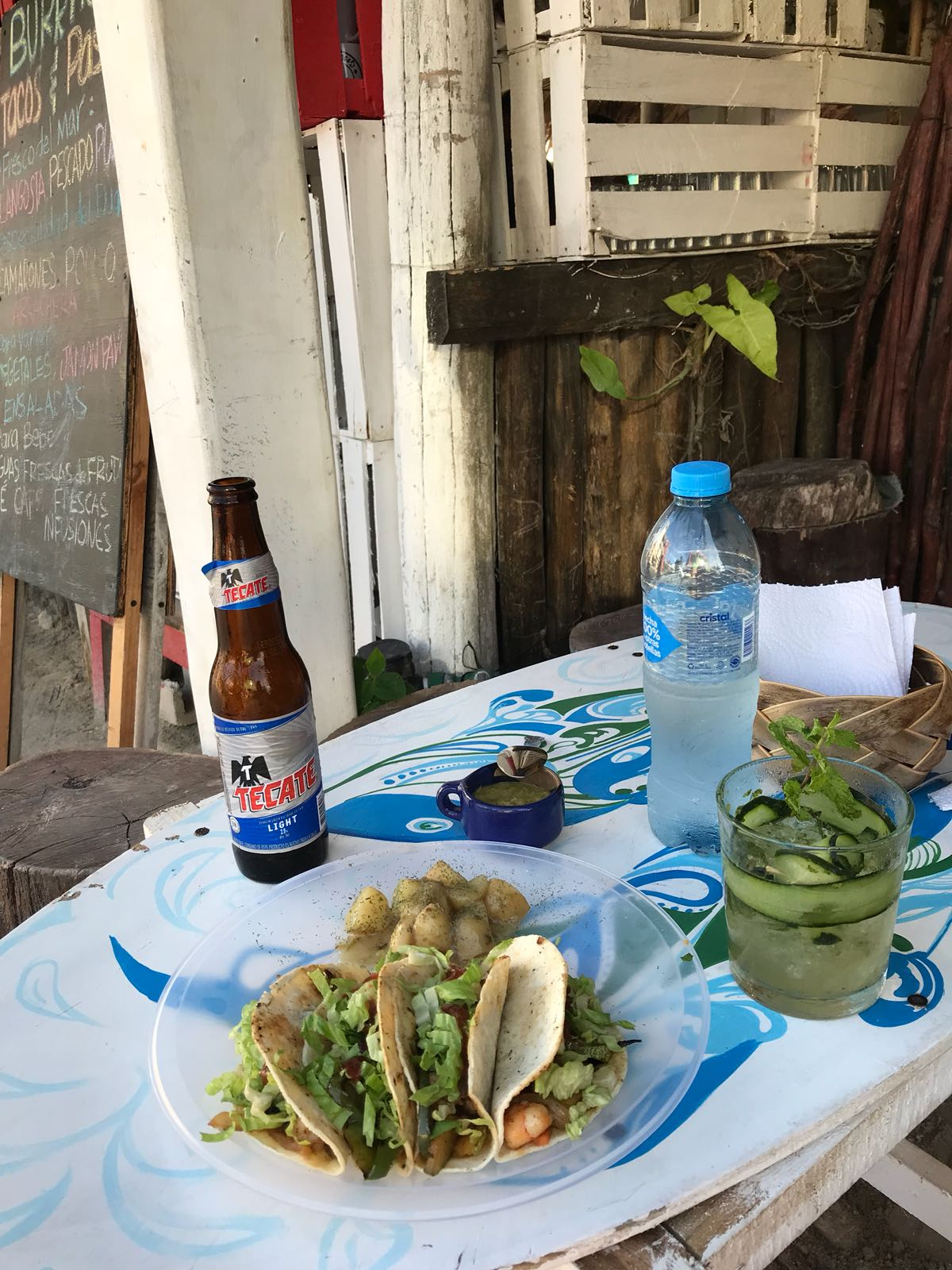 Taco shack next to Hot Corner, Holbox