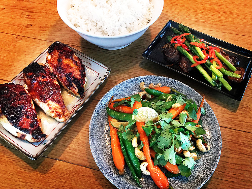 - Three Asian-inspired dishes for this week, from my forthcoming book to be published by Penguin in September 2018