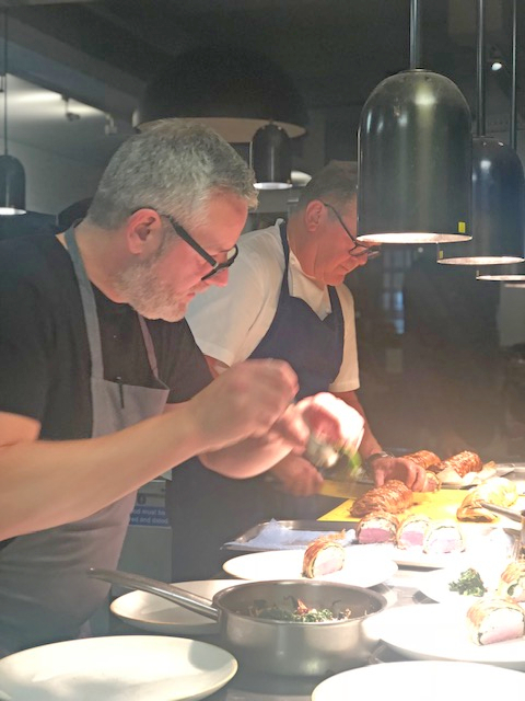 - Nigel Haworth and Brigade head chef Pete