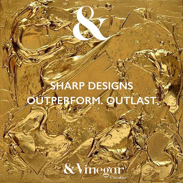 Sharp designs that outperform and outlast #vinegarcreative #sharpdesigns #vinegargold #gold #dippedingold #goldpaint #wetpaint #donttouch #creative #design #art