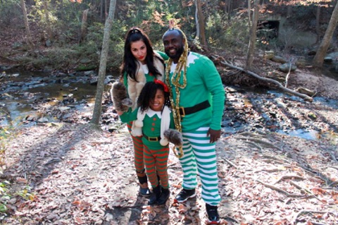 Our newest tradition of elf pajamas - also featured on our Christmas card this year.