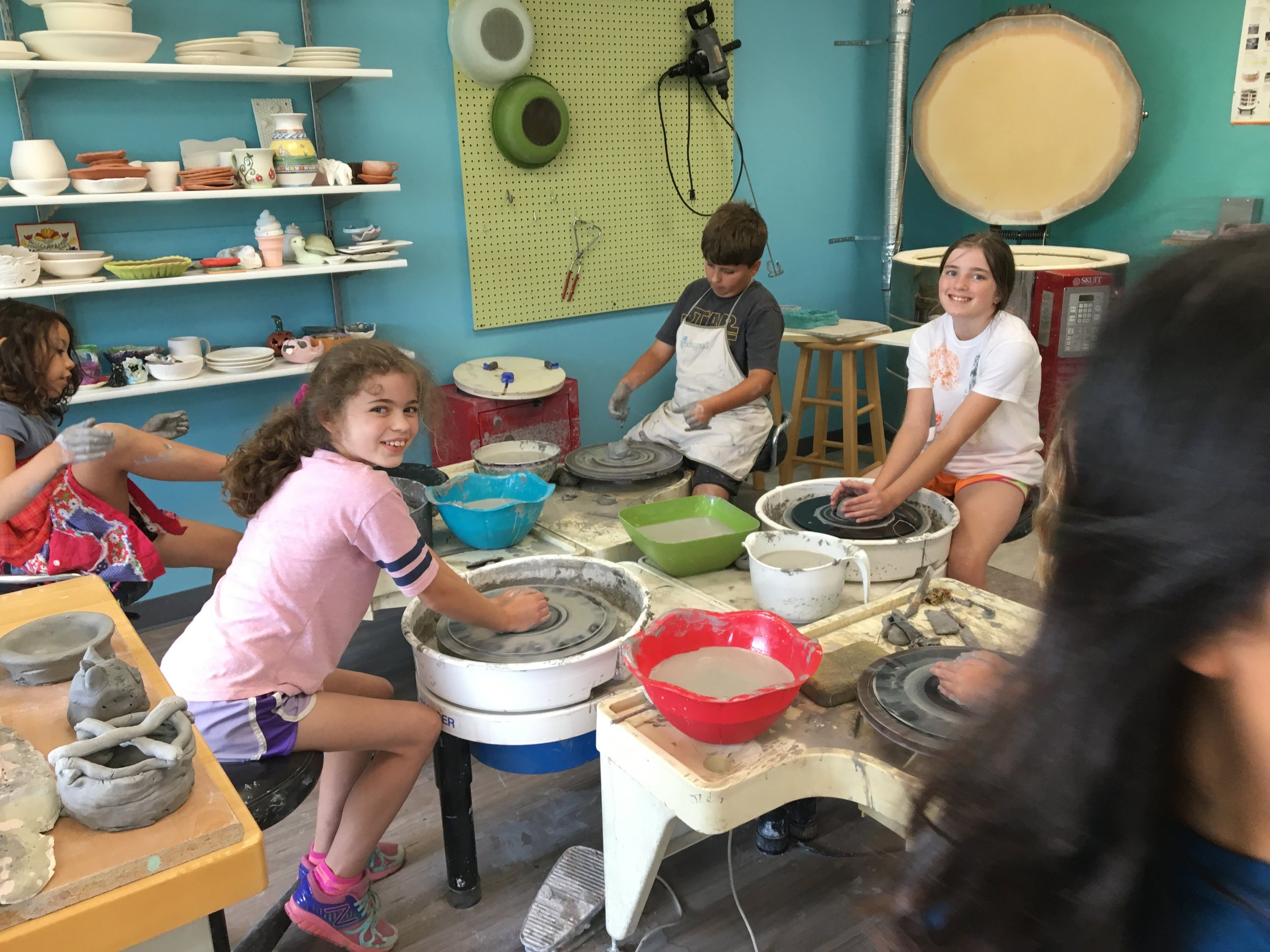 Youth Classes, Camps and events - Offering youth classes, summer camps, MCCSC day camps (on no school days) and pizza pottery nights.