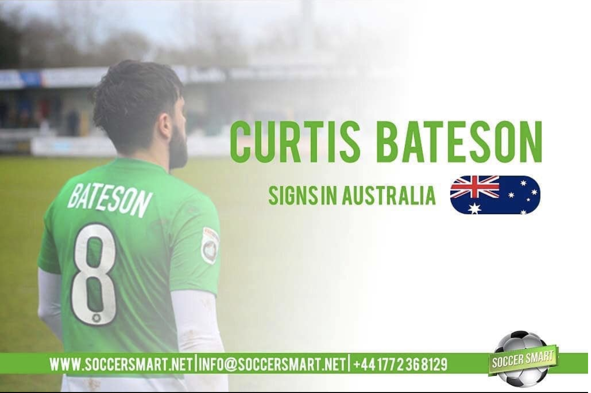Curtis Bateson, just one of the many players Soccer Smart has helped move to Australia.