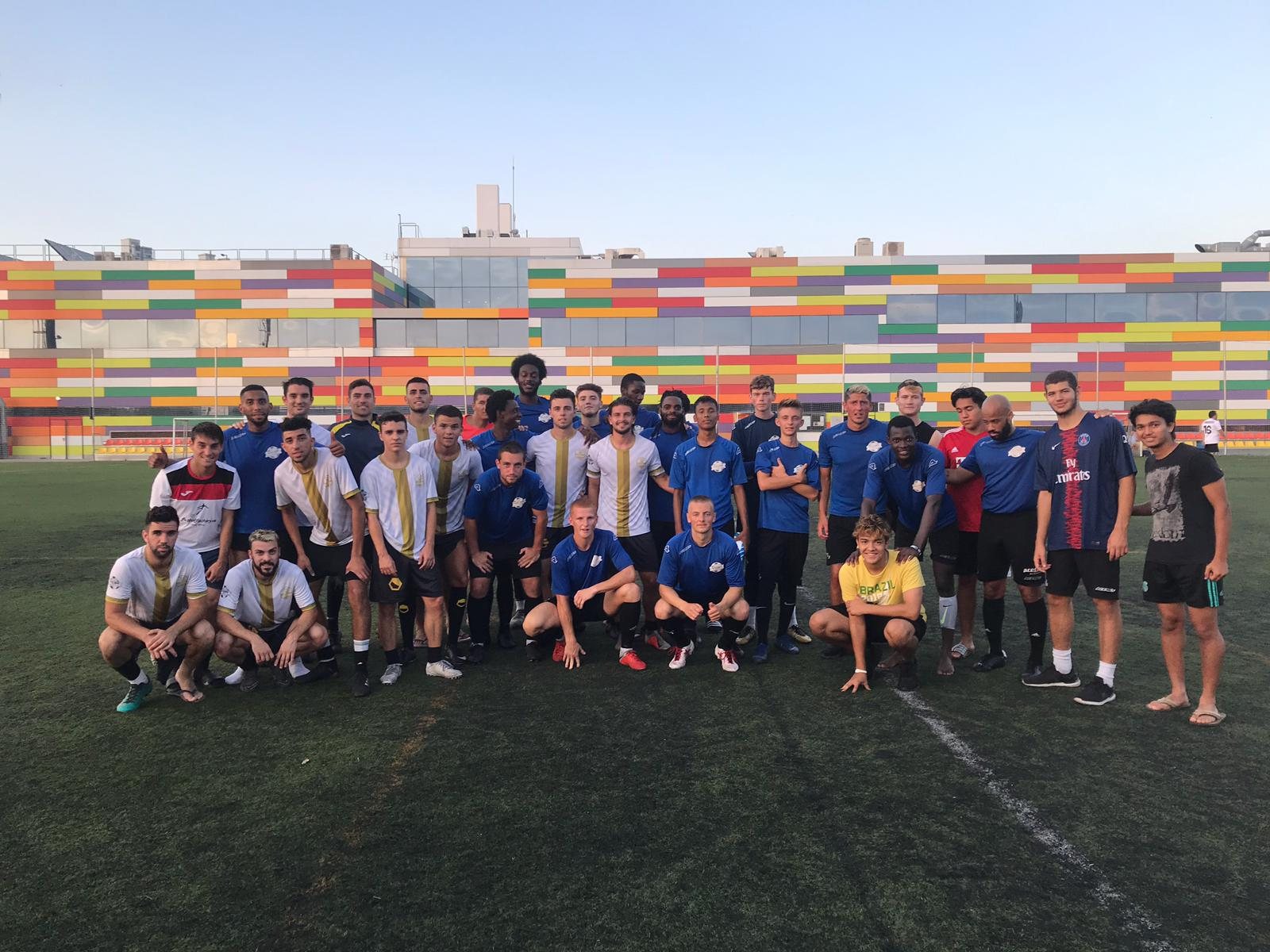 Our Spanish football academy boys with the Alicante City FC lads