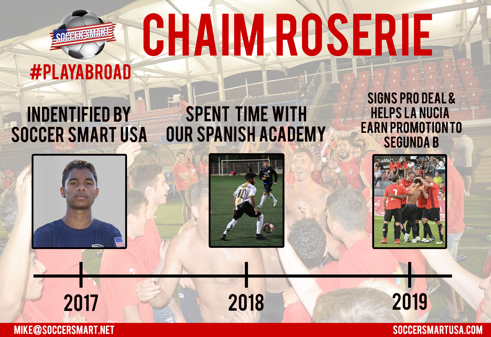 The story of Chaim Roserie so far up until his international call-up