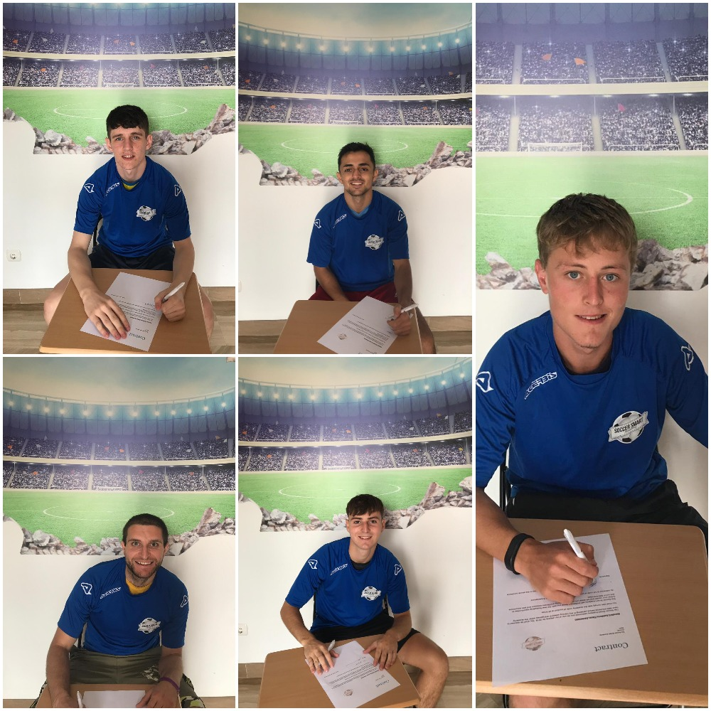 Our Spanish soccer academy players signing their contracts