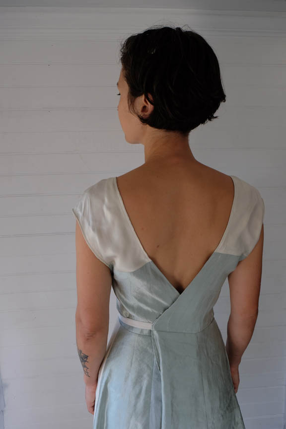 Scrap-Silk Wrap Dress, Back