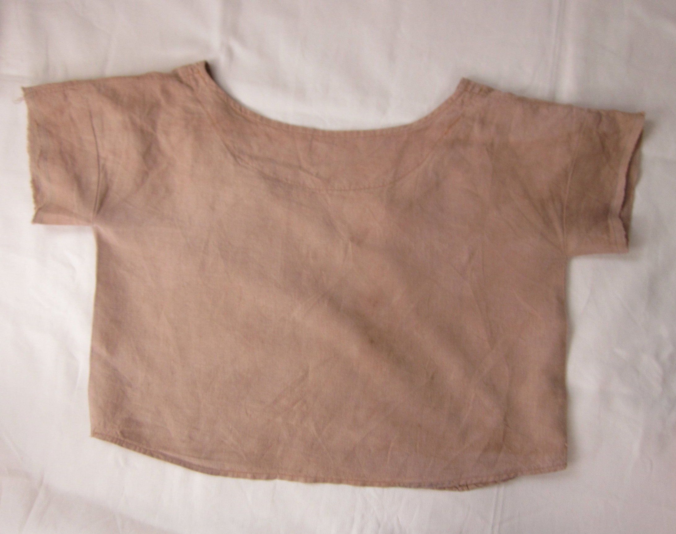 Linen Crop Top Dyed with Avocado Skins