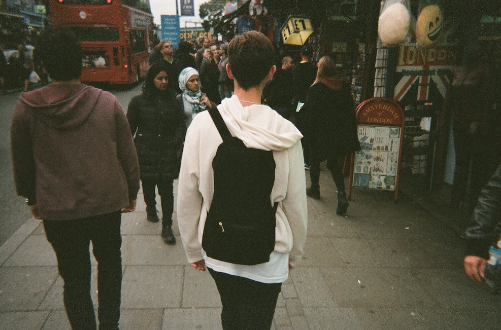 SUEDE BACKPACK AND CASHMERE HOODIE