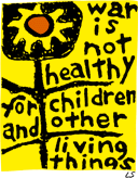 This poster, designed by Lorraine Schneider, was the logo for Another Mother for Peace .