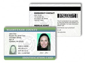 The back of the County ID also has Emergency Contact and Medical information.