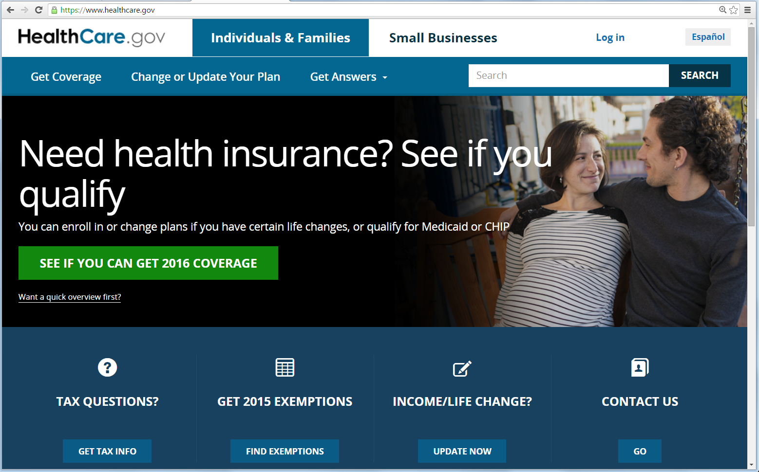http://www.healthcare.gov