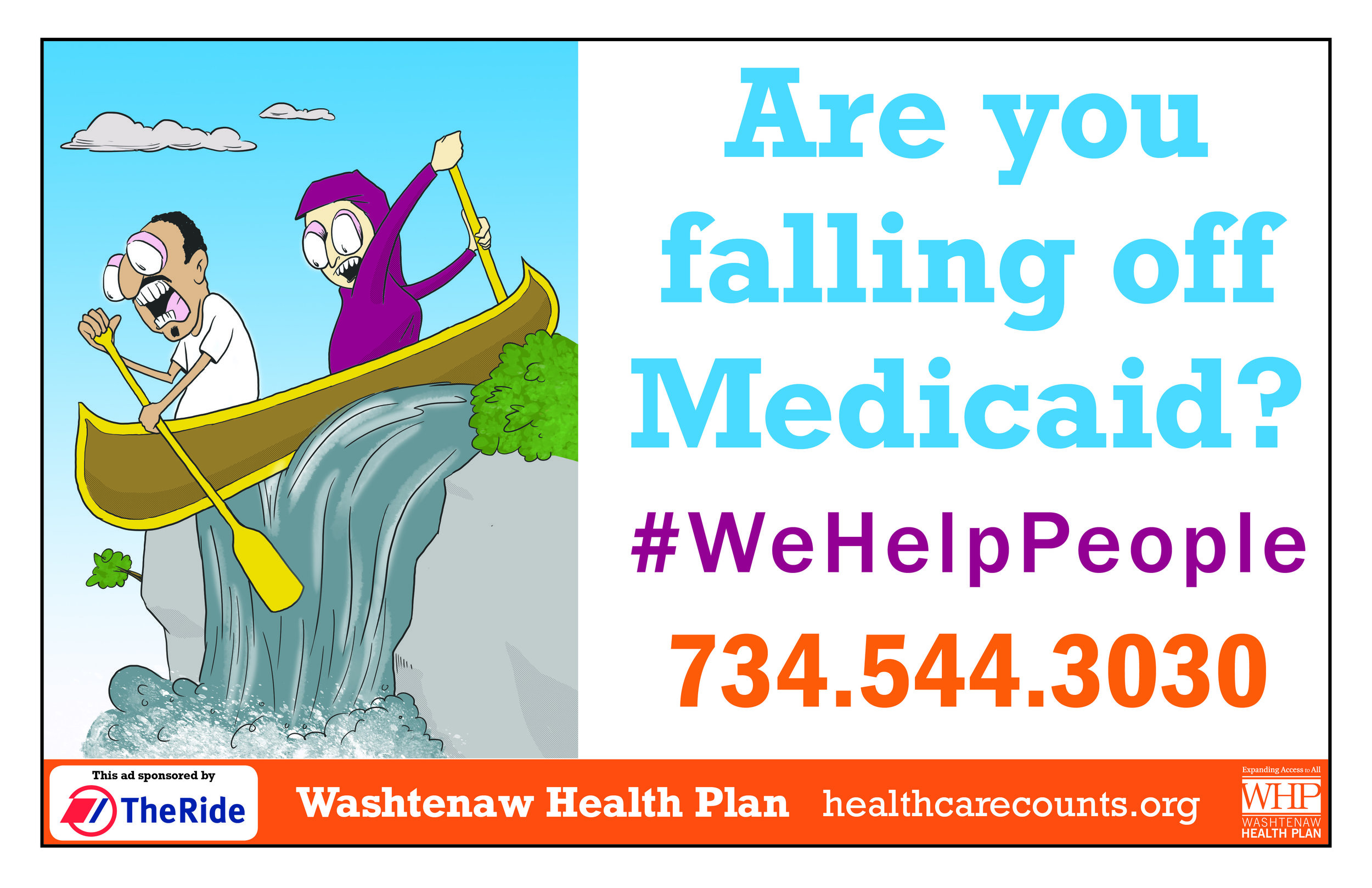 Washtenaw Health Plan Poster 2019 Couple in Canoe.jpg