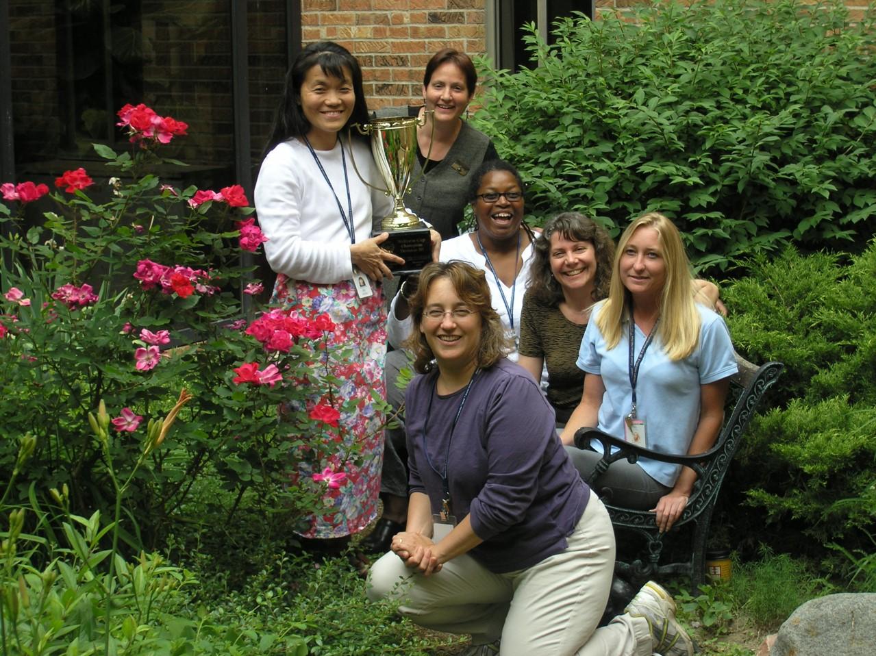 Ellen with WHP staff, 2006.