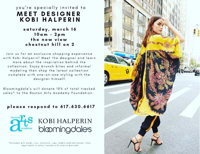 A Fashionable Invitation! Support the arts! #bloomingdales #fashion #art #thisweekend #thursdaymotivation #bostonartsacademy #cfda #bloomingdaleschestnuthill