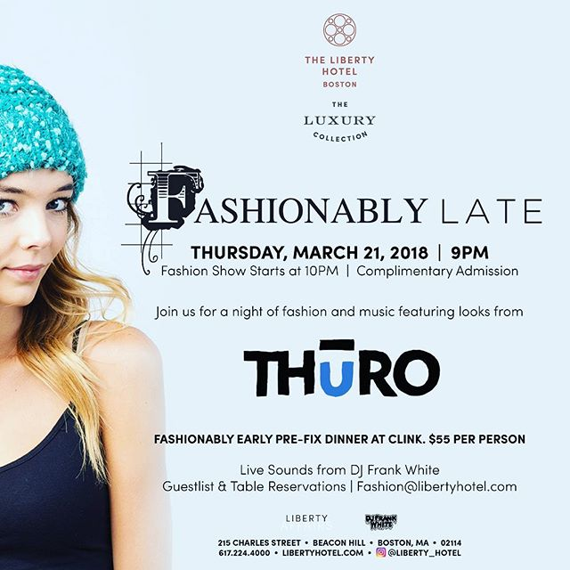 #boston #libertyhotel #fashionablylate #beaconhill #djfrankwhite #thuroshop #skateboston #brookline