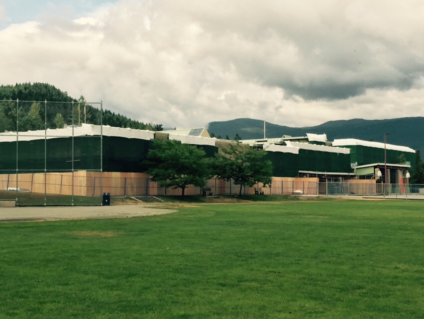 This is the view of the back of the school.
