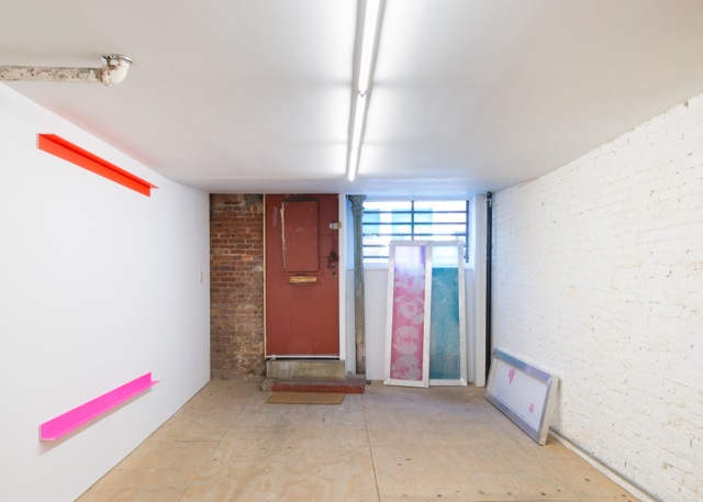 Installation view, 'Promise Problem', Osmos Address, New York, 2015. Photo by Adam Reich, courtesy of Osmos Address, New York. Artwork by Israel Lund and Gerold Miller, 2015.