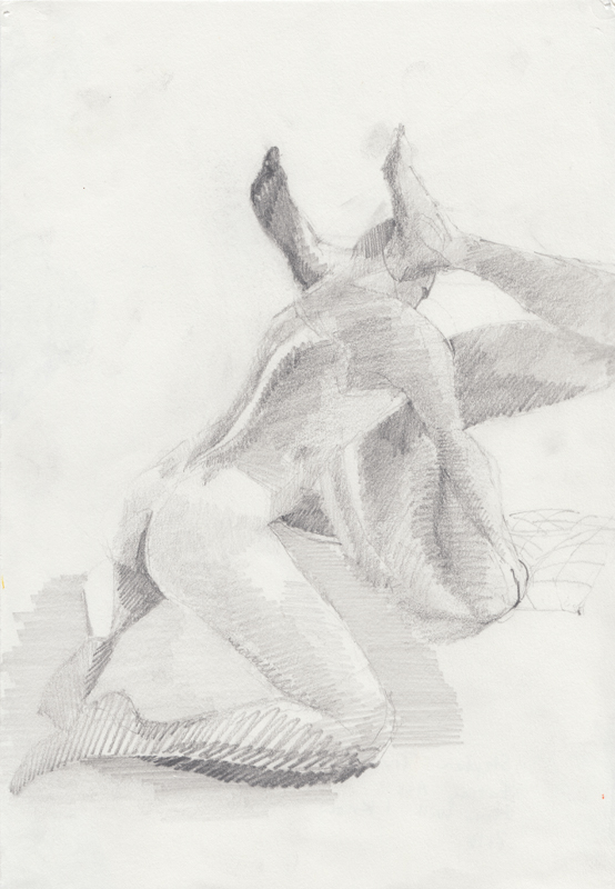 IMAGE: Stephen Truax, How Will I Know (Eating Ass), 2016, Graphite on paper, 11.69 x 8.27 in. Image courtesy of the artist.