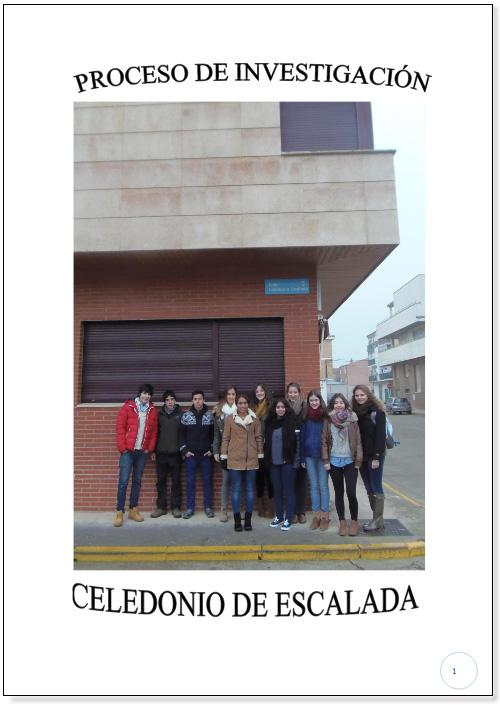 [[Trabajo de clase con 11 participantes del Colegio Santa Teresa (tercer premio): «Celedonio de Escalada y Palacio»///Trabalho de aula com 11 participantes do Colegio Santa Teresa (terceiro prémio): «Celedonio de Escalada y Palacio»]]