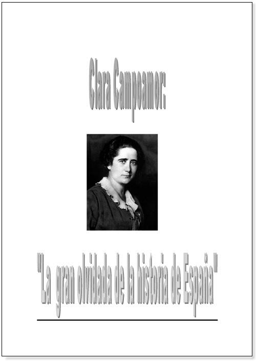 "[[Yolanda Trujillo Adriá (tercer premio, III convocatoria): ""Clara Campoamor: la gran olvidada de la historia de España""///            Yolanda Trujillo Adriá (terceiro prémio, III convocatória): ""Clara Campoamor: a grande esquecida da história de Espanha""     Normal   0       21       false   false   false     ES   X-NONE   X-NONE                                                                                                                                                                                                                                                                                                                                                                          /* Style Definitions */  table.MsoNormalTable {mso-style-name:""Tabla normal""; mso-tstyle-rowband-size:0; mso-tstyle-colband-size:0; mso-style-noshow:yes; mso-style-priority:99; mso-style-qformat:yes; mso-style-parent:""""; mso-padding-alt:0cm 5.4pt 0cm 5.4pt; mso-para-margin-top:0cm; mso-para-margin-right:0cm; mso-para-margin-bottom:10.0pt; mso-para-margin-left:0cm; line-height:115%; mso-pagination:widow-orphan; font-size:11.0pt; font-family:""Calibri"",""sans-serif""; mso-ascii-font-family:Calibri; mso-ascii-theme-font:minor-latin; mso-fareast-font-family:""Times New Roman""; mso-fareast-theme-font:minor-fareast; mso-hansi-font-family:Calibri; mso-hansi-theme-font:minor-latin; mso-bidi-font-family:""Times New Roman""; mso-bidi-theme-font:minor-bidi;}  ]]"