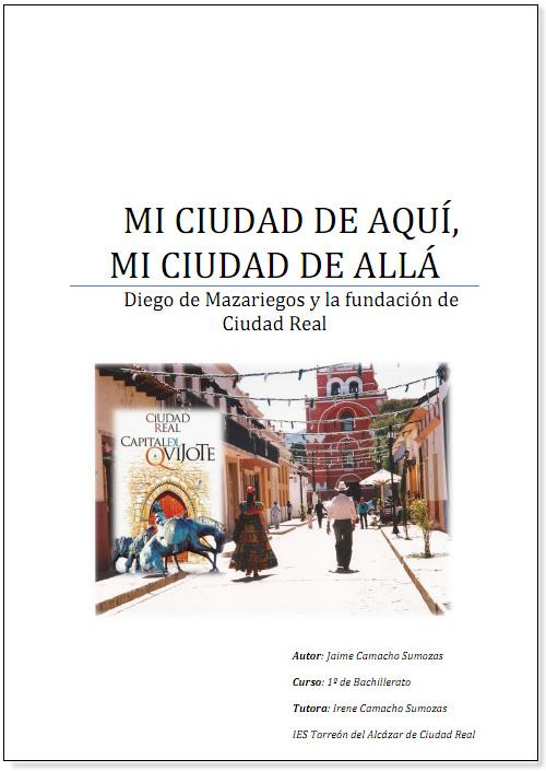 """3º premio """"Mi ciudad de aquí, mi ciudad de allá"""" Jaime Camacho Sumozas."""